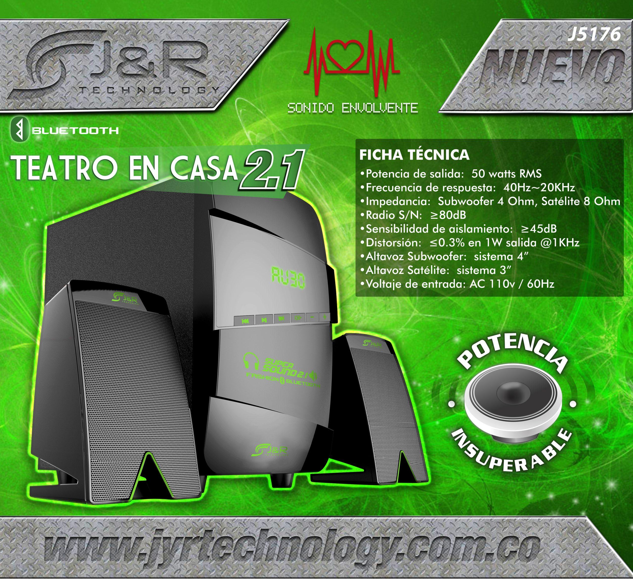 Brochure 5176 Teatro 2.1 Nuevos Teatros 2.1 J&R Technology